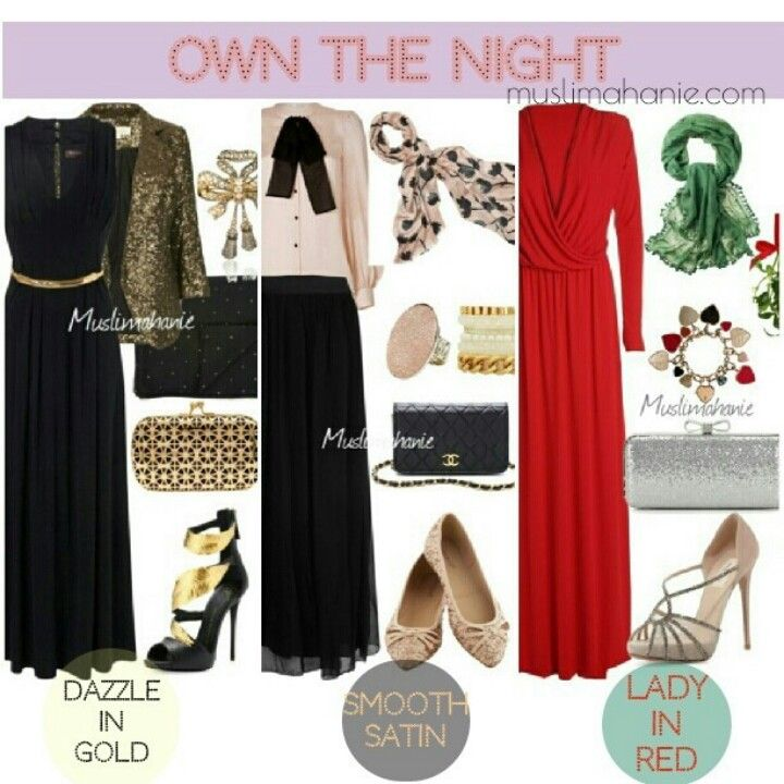 Own The Night Dinner Outfit Ideas Muslimah Fashion