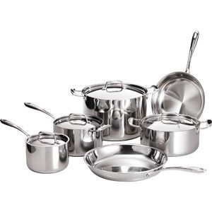 Tramontina 10-Piece 18/10 Stainless Steel TriPly-Clad