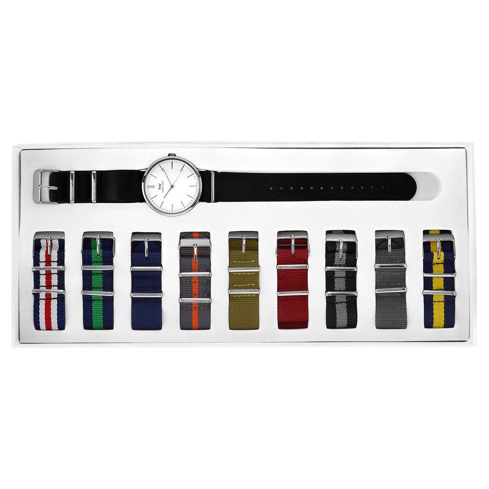 Men's Territory Interchangeable 10 Strap Watch Set - Multicolor, Multi-Colored