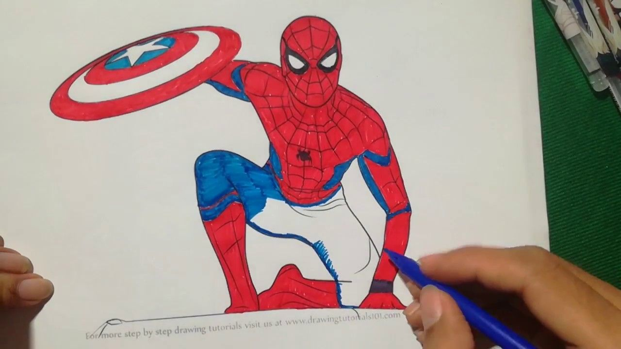 Spiderman Homecoming Coloring Book Captain America Coloring Book For K Coloring Books Spiderman Spiderman Coloring