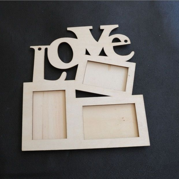 Amazing Love Wooden Photo Frame White Base Diy Photo Picture Frame Desktop Hot Color Wood Bro Diy Picture Frames Wooden Photo Frames Decorating Mirror Frames