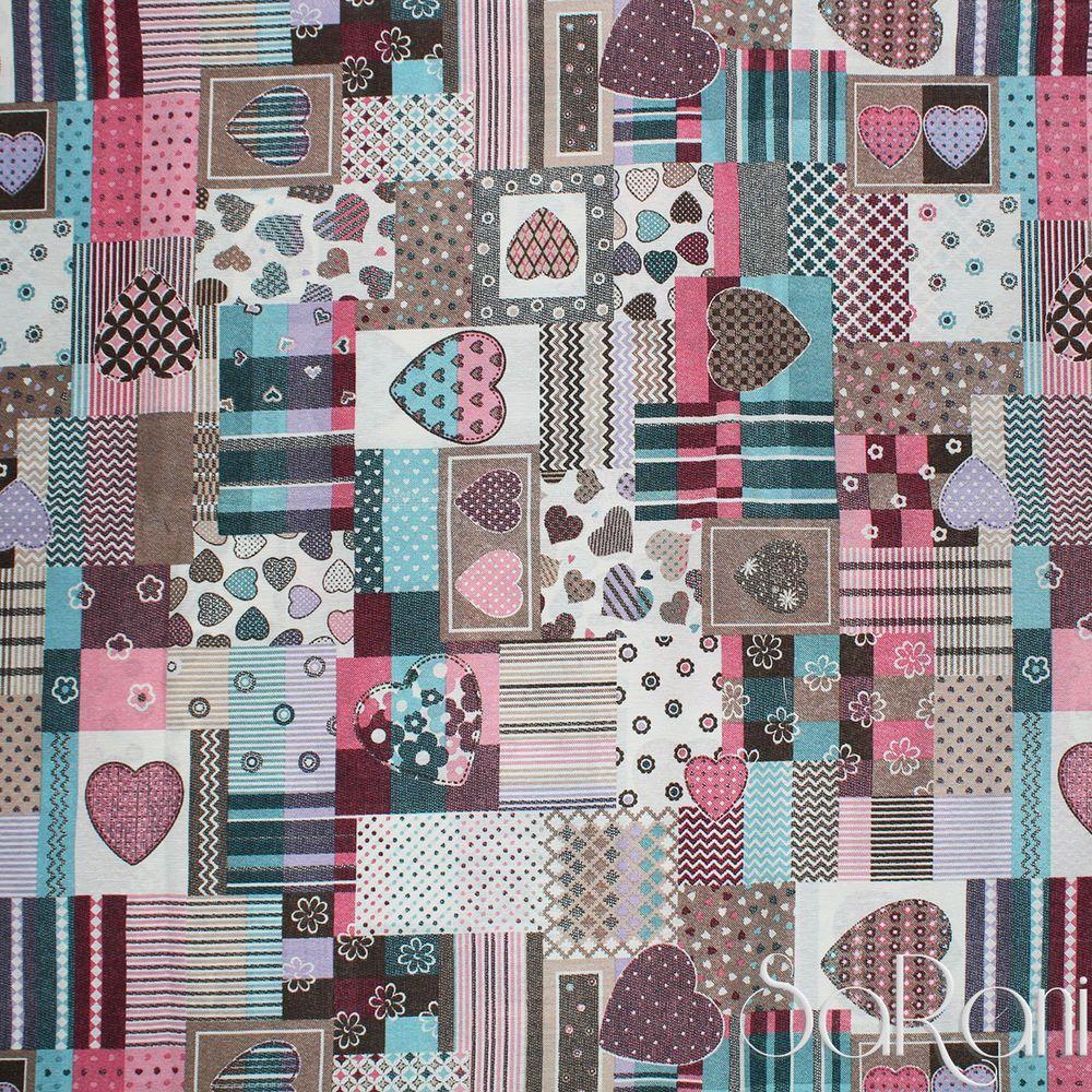 Telo arredo copritutto gran foulard copriletto copridivano cotone cuori rosa divano o letto o - Gran foulard divano ...