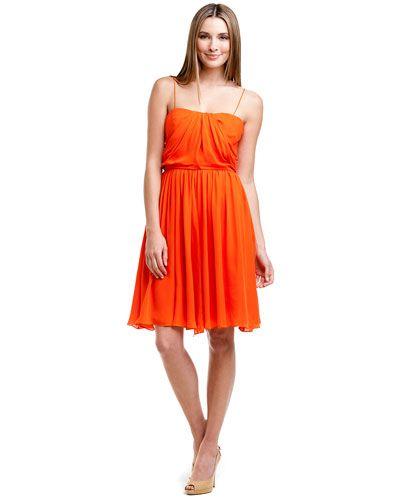 elizabeth mckay orange silk dress