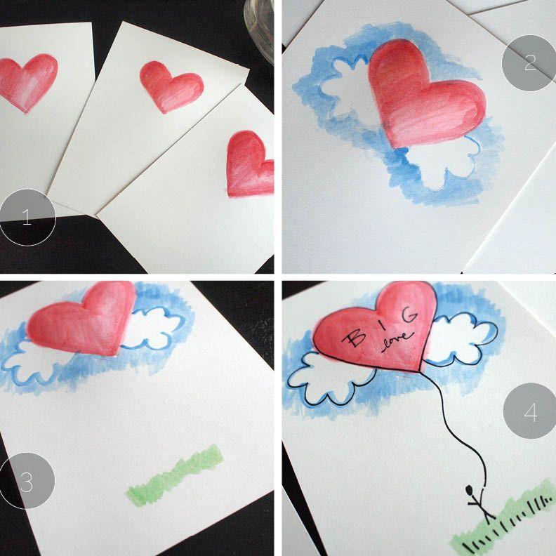 diy cards | DIY Valentine Cards Big Love