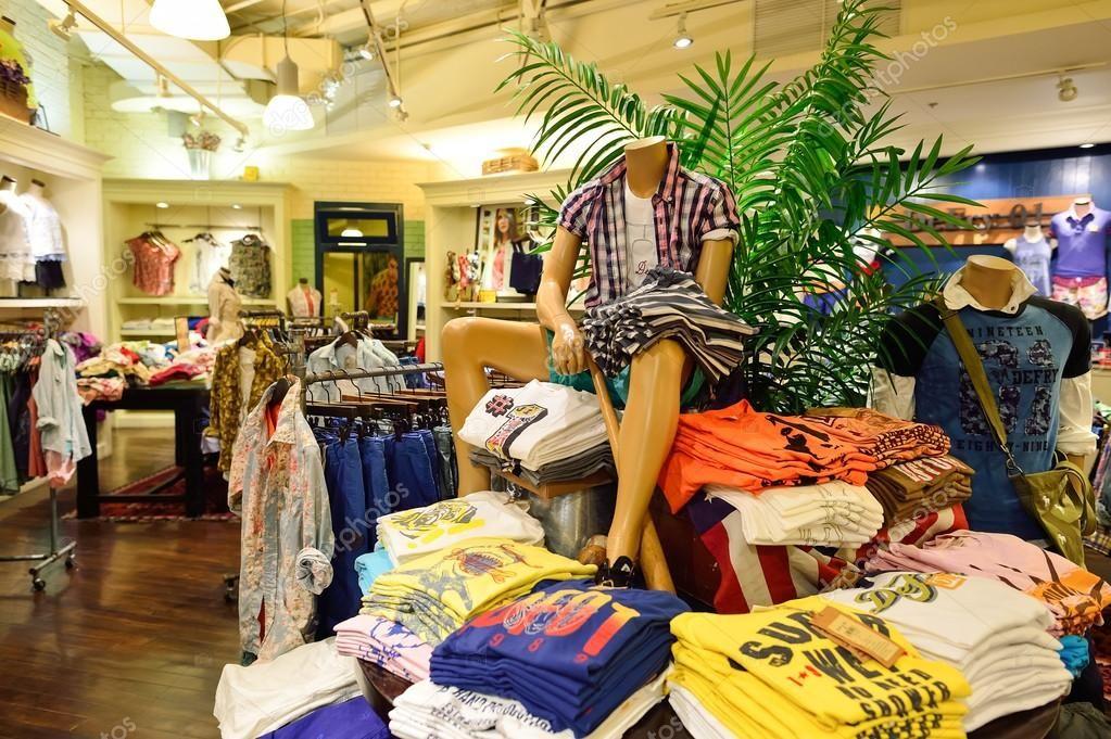 Shopping center interior in Bangkok Stock Photo ,