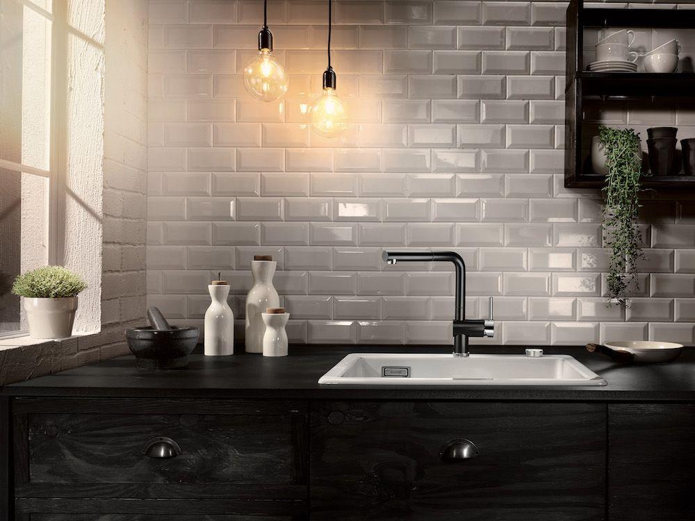 Zwarte keukenkraan blanco linus s black edition n zwarte