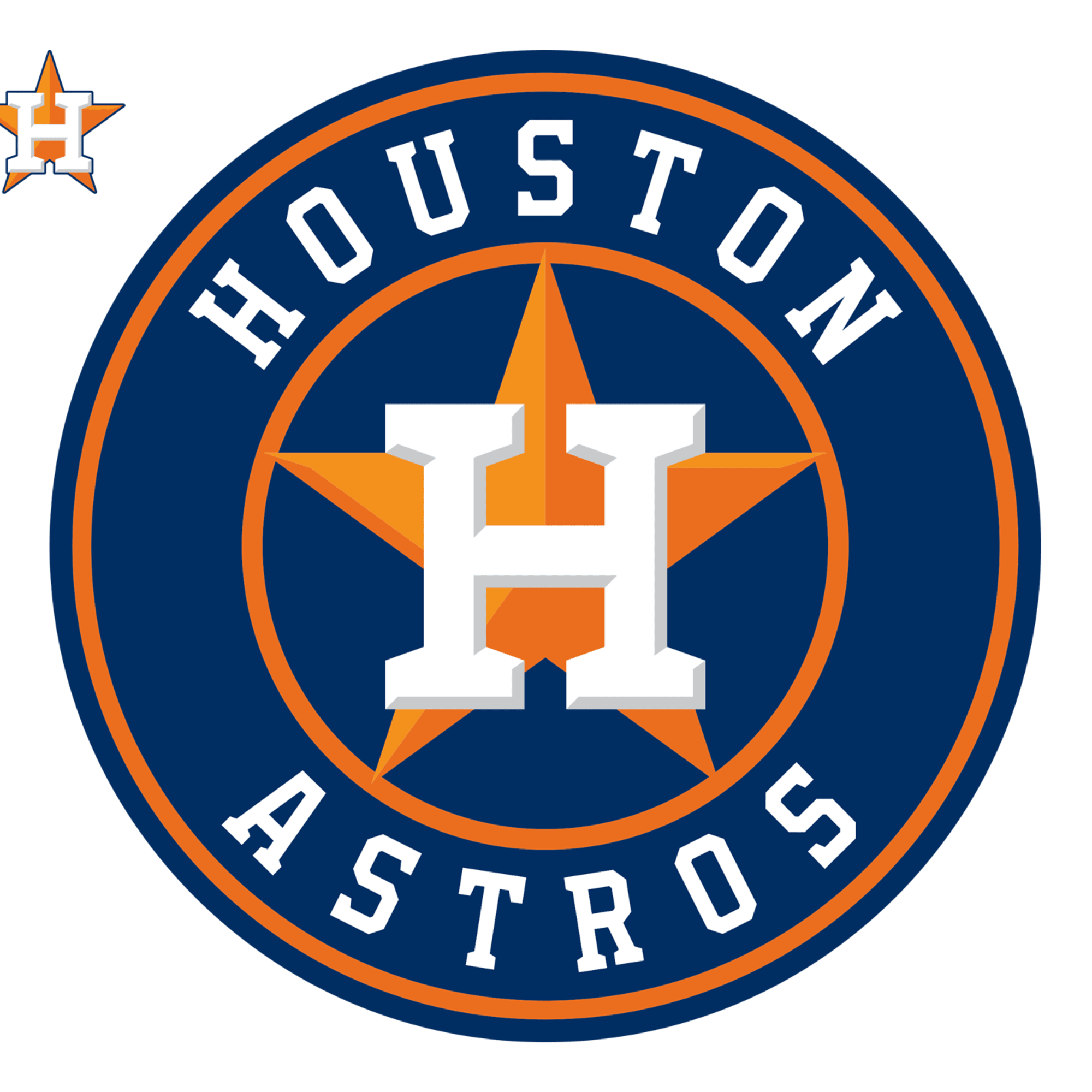 Houston Astros Logo Large Officially Licensed Mlb Removable Wall Decal Sports Team Logos Mlb Logos Astros Baseball