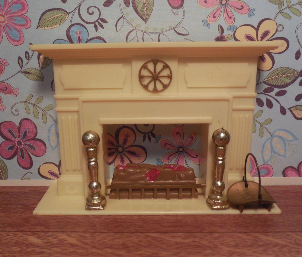 Marx LITTLE HOSTESS FIREPLACE Vintage Renwal Dollhouse Furniture Plastic 1: 16 #Marx