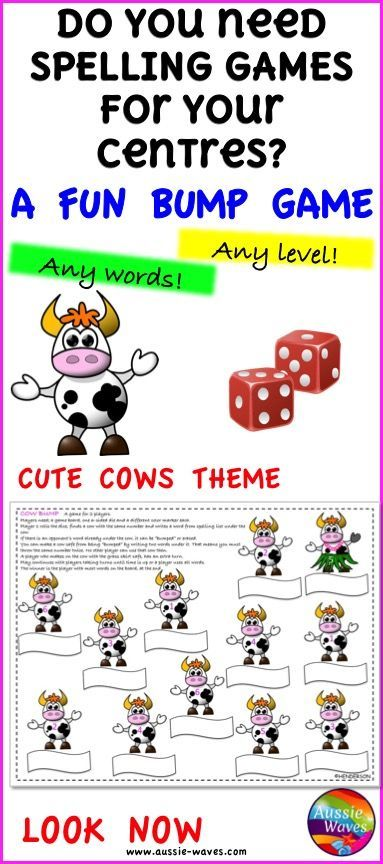 Printable Spelling Game Cards use for all levels and all words A