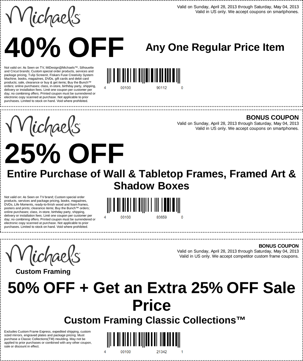 pinned may 4th 40 off a single item and more at michaels coupon via - Michaels Frames Coupons