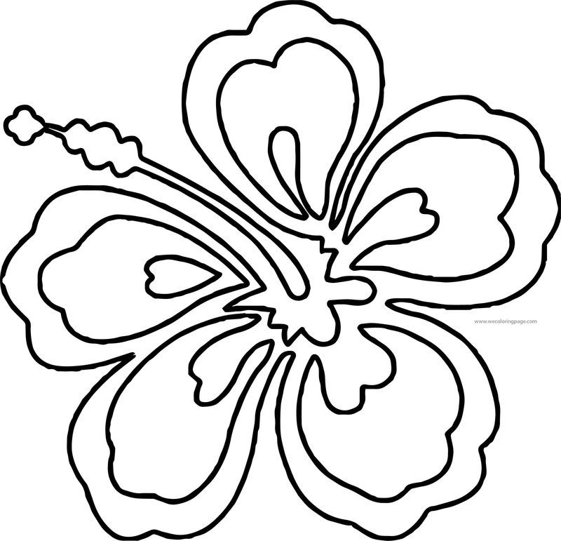 Hawaiian Flower Coloring Page Flower Coloring Pages Hawaiian Flower Drawing Emoji Coloring Pages