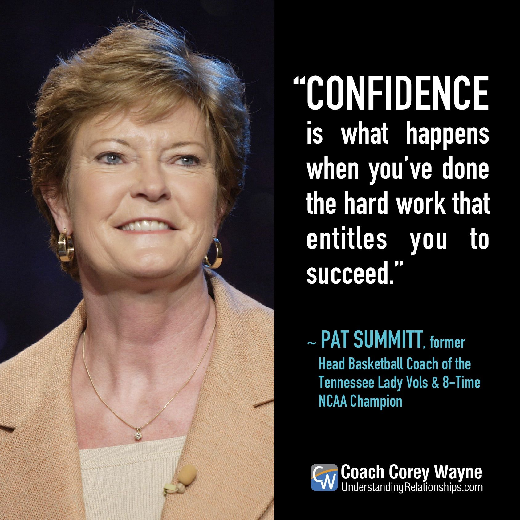 Motivational Quotes For Sports Teams: Pat Summitt Quote