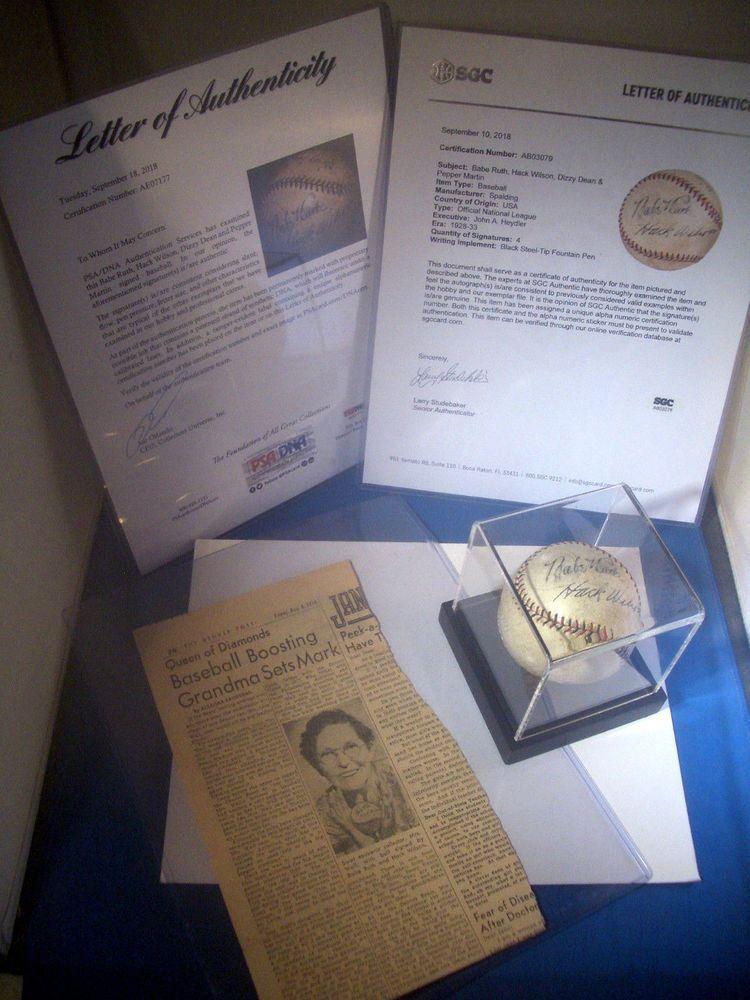 19281933 babe ruth dizzy dean signed of mlb baseball
