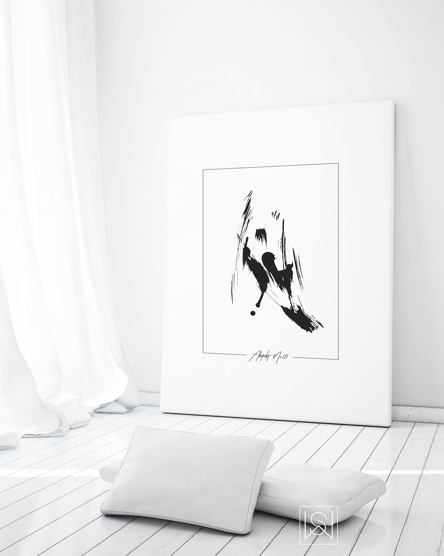 Stephanie Wünsche   Abstrakt No. 50   Abstrakt, Lounge, Poster
