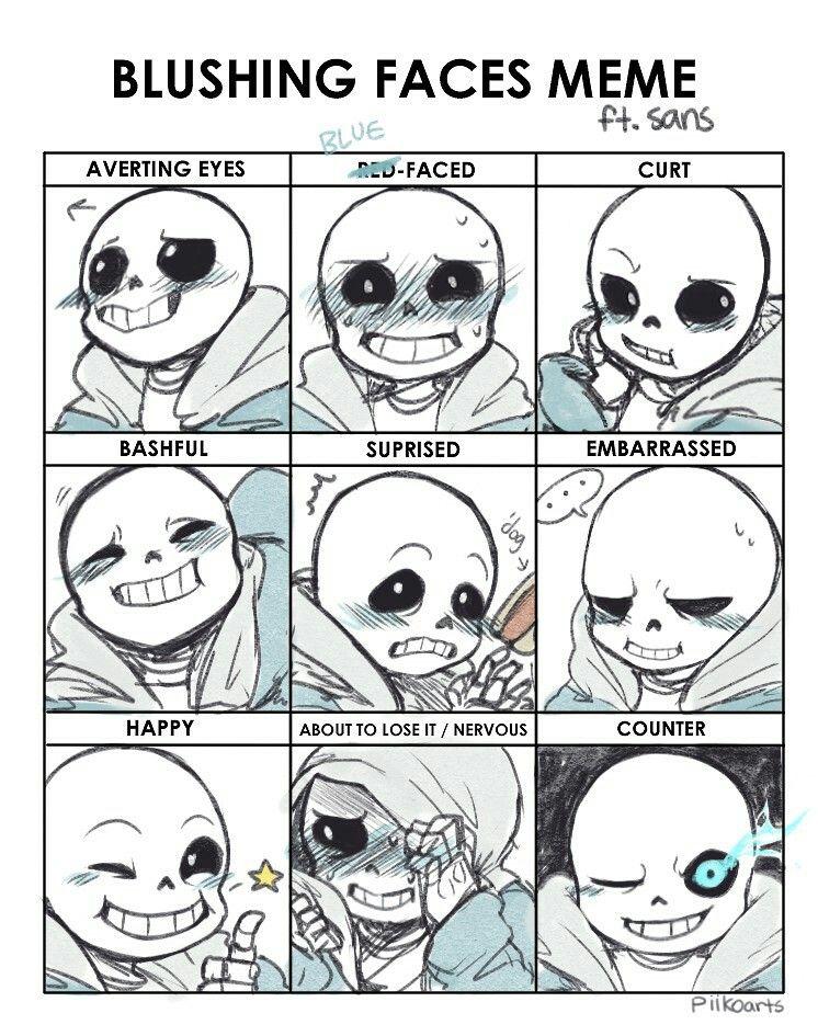 505ba89e669b82340269facd2b9c2a59 sans blushing meme undertale ♡ ( i'm sans the skeleton