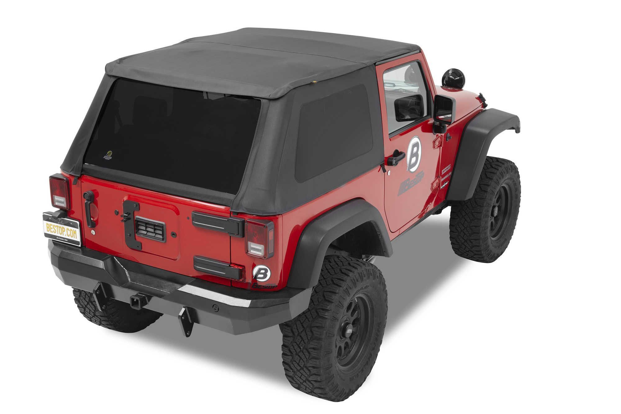 Bestop Trektop NX in Black Diamond for 0716 Jeep Wrangler