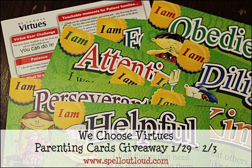 @Wechoosevirtues #giveaway at @SpellOutloiud