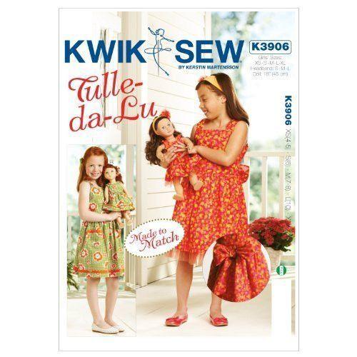 Kwik-Sew K3906 Tulle-Da-Lu Made to Match Dresses Pattern, Size XS-S-M