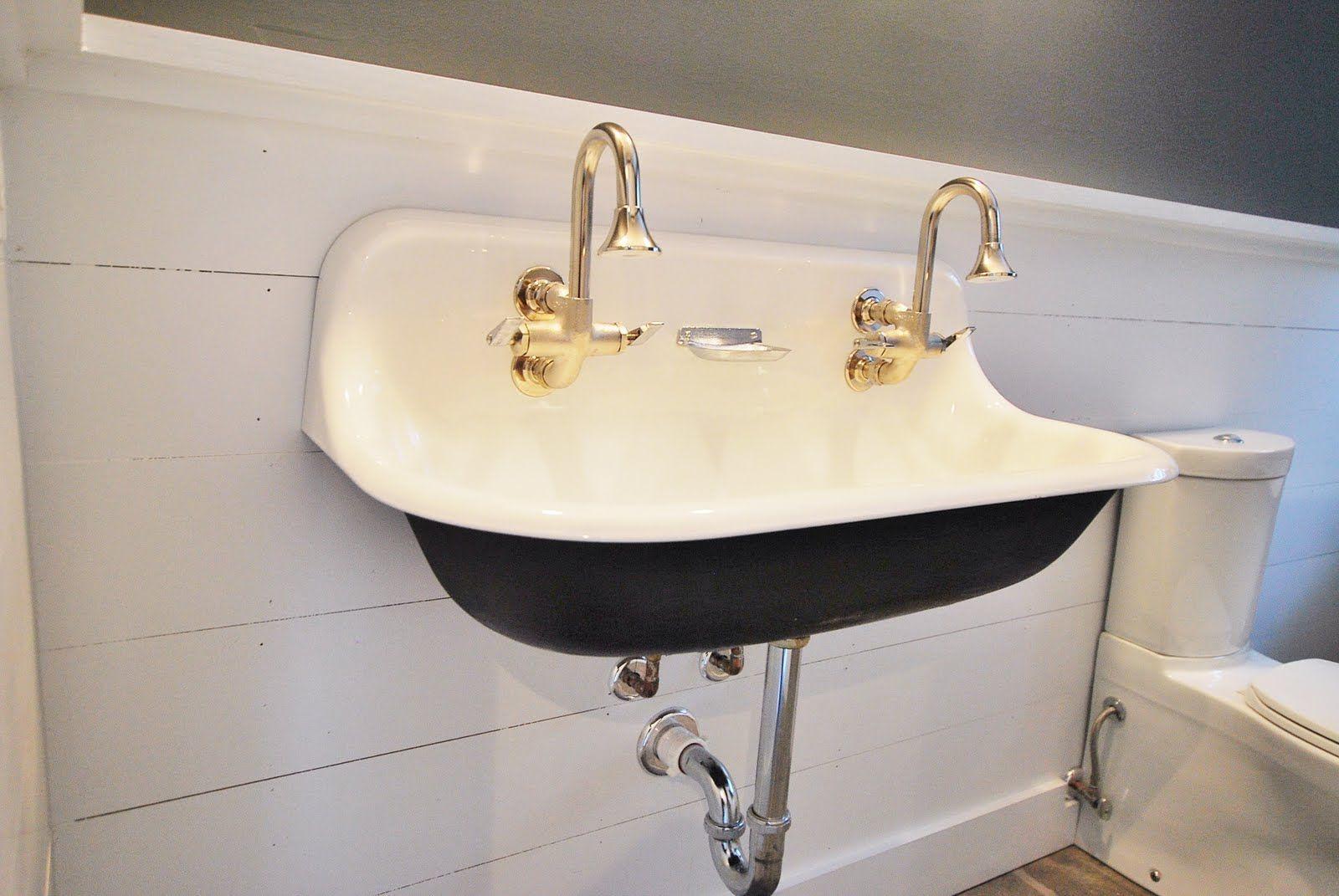 Wall Mounted Trough Sinks For Bathrooms Vintage Bathroom Sinks