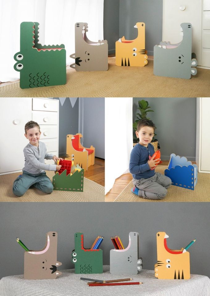 Gobble Teach Kids Eco Habits With Fun Recyclable Furniture By Form Maker
