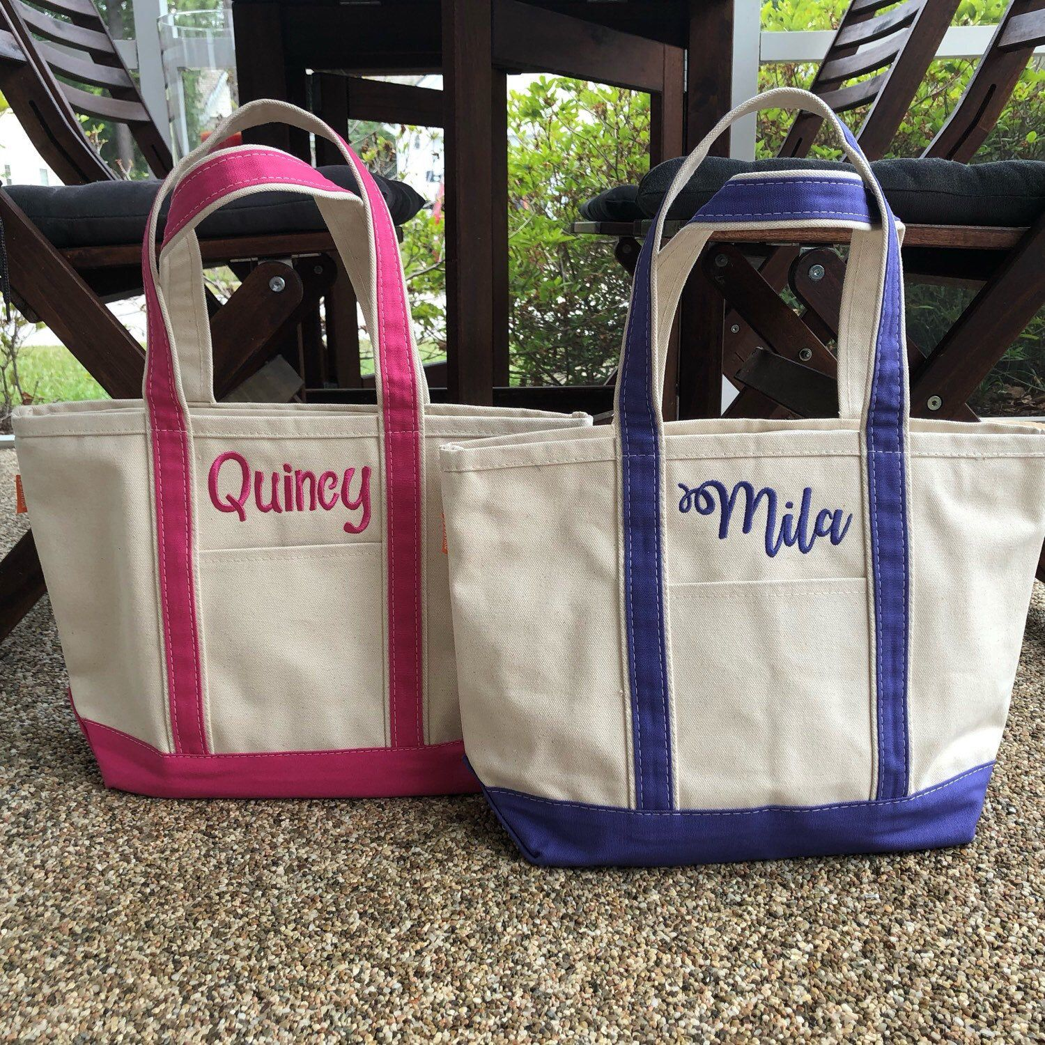 Corporate Gift Bachelorette Gifts Personalized Tote Bridal Party Totes Medium Custom Boat Tote Bag Monogrammed Canvas Bag Beach Bag
