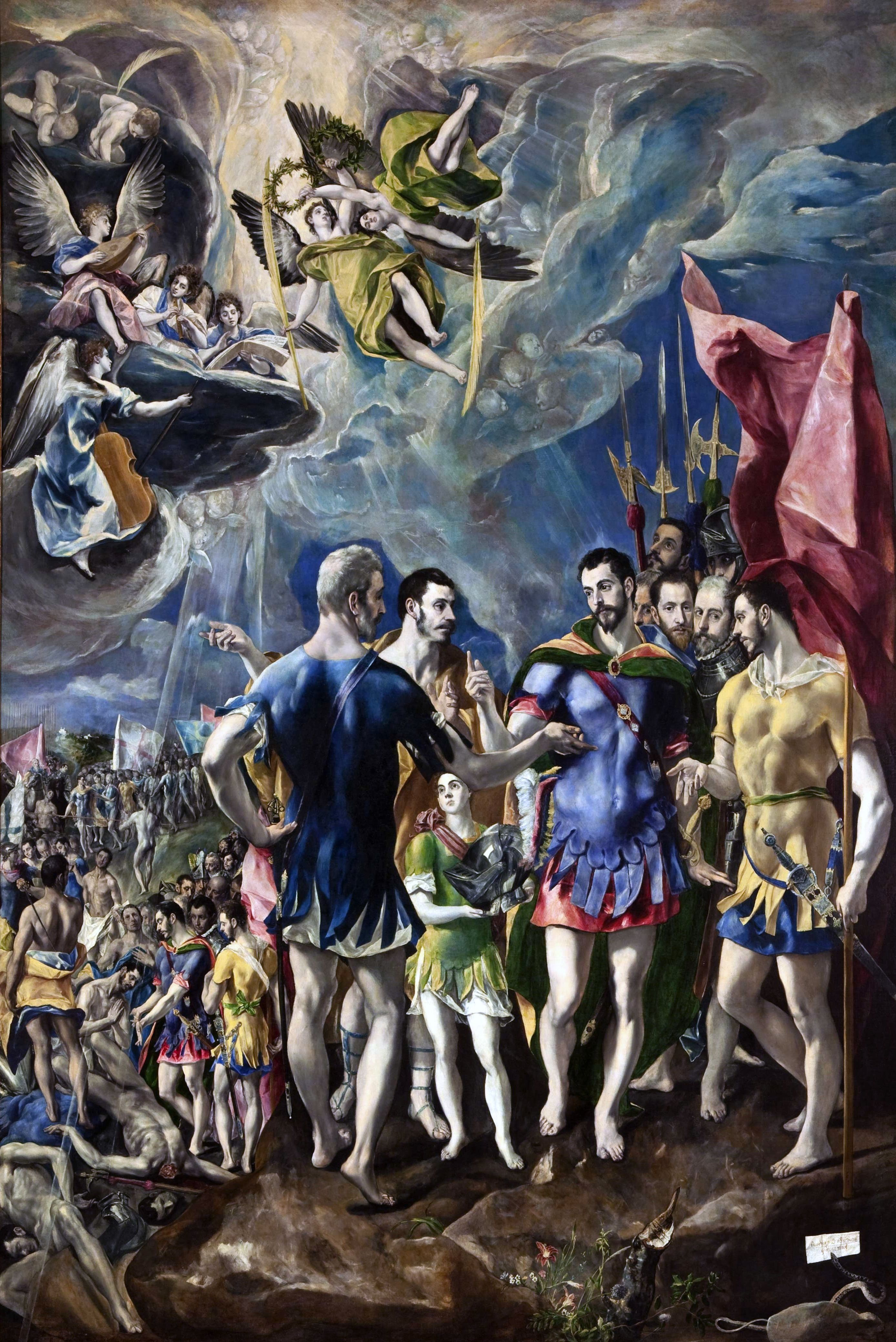 Martirio De San Mauricio By El Greco Escorial Con Imagenes