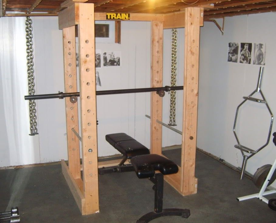 Homemade power rack for trainings