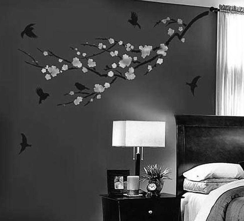 Wandfarbe Schlafzimmer Weisse Möbel: Wandmalerei Designs Für Schlafzimmer Wand-Anstrich