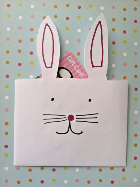 Activities for kids 20 easter crafts for kids easter bunny easter bunny envelopes treat or gift card holders negle Gallery