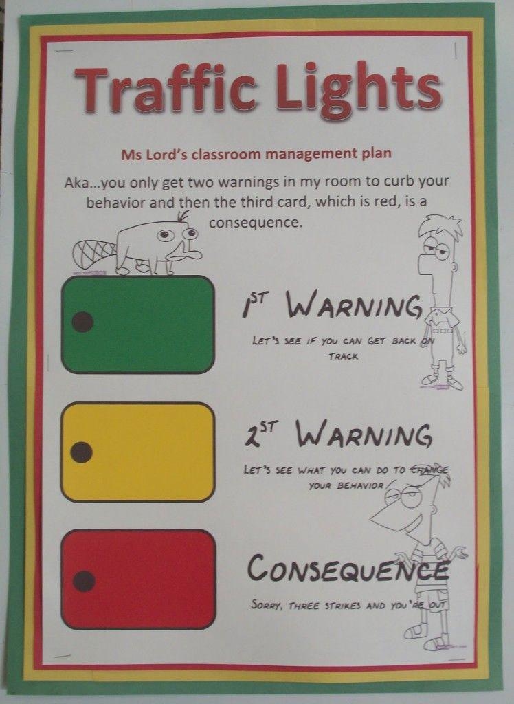 Traffic Lights Classroom Management Idea Behavior