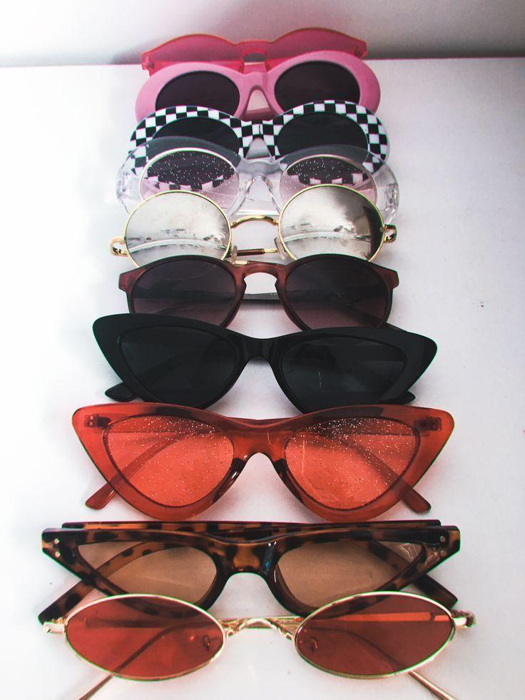 Sun glasses collection set retro clout goggles sunglasses vintage coloured lense Sun glasses collection set retro clout goggles sunglasses vintage coloured lense
