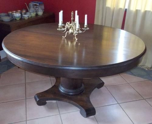 Image Result For Antique 60pedestal Dining Table With 2 Leafs