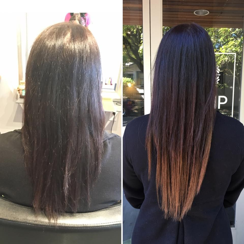 Tape In Extensions Before After Hair Salon Portland Best Hair