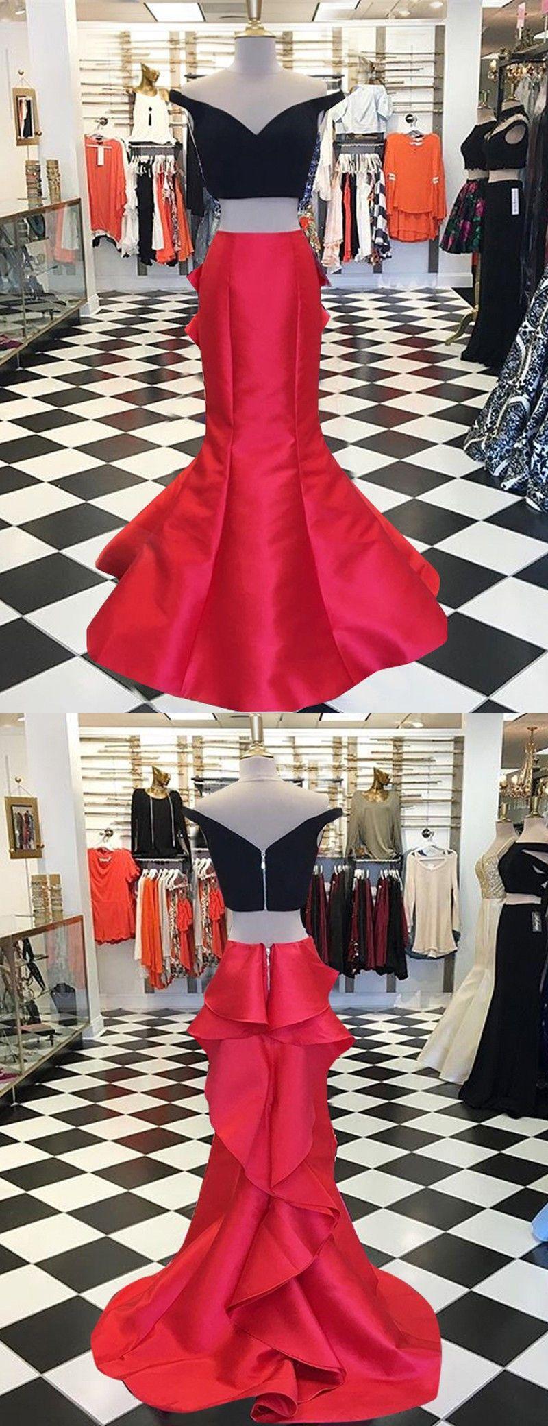 Long prom dressestwo piece prom dressesred prom dresses black