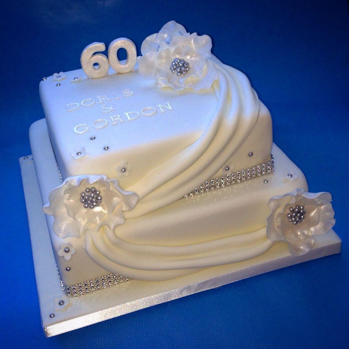 Diamond Wedding Anniversary Cake Diamond wedding