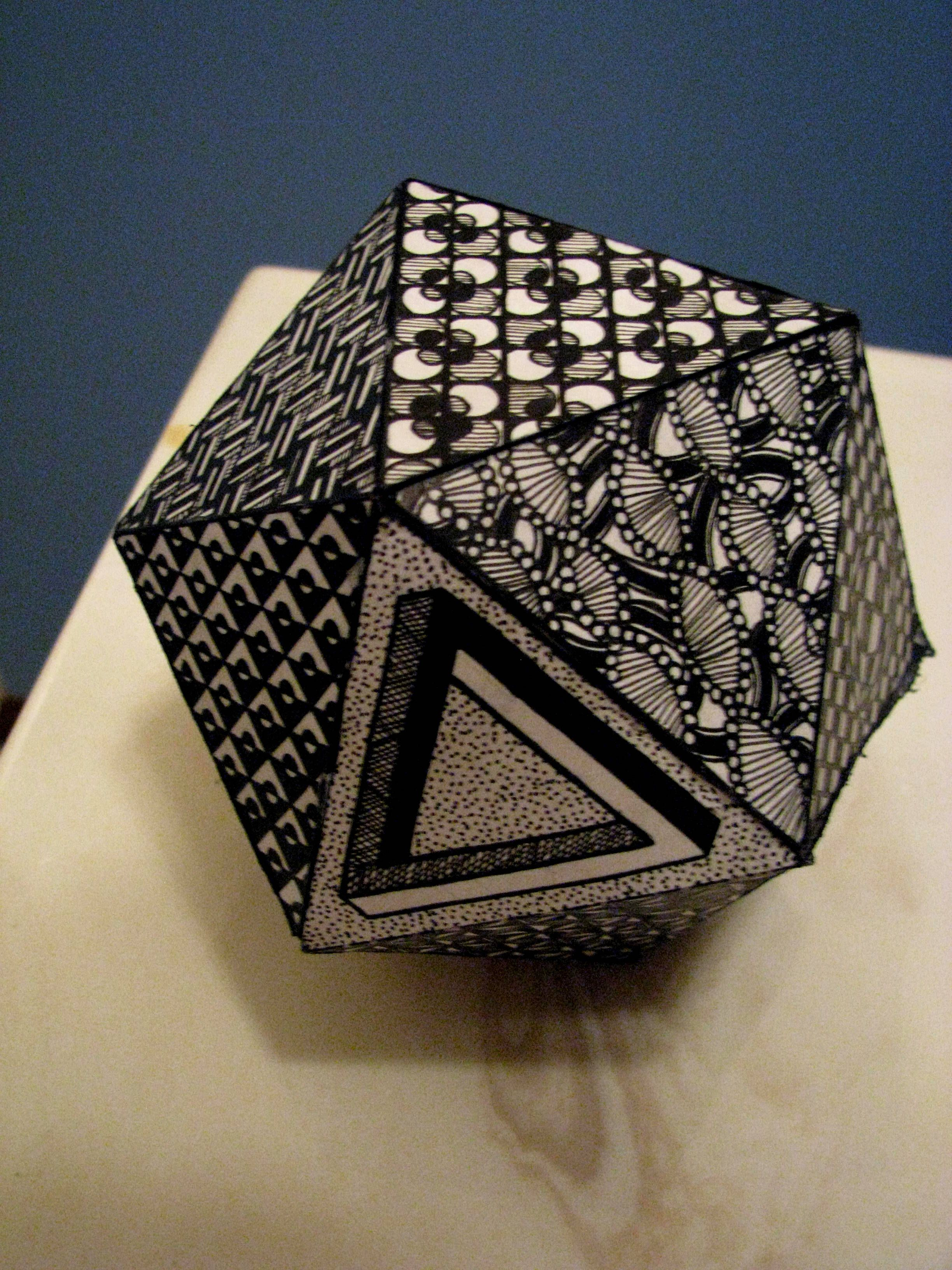A tangled Icosahedron (20 sided polygon paper shape) | TARA\'S ...