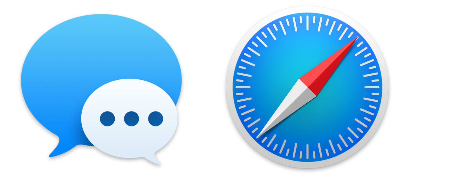The new Messages and Safari icons are pretty great, too