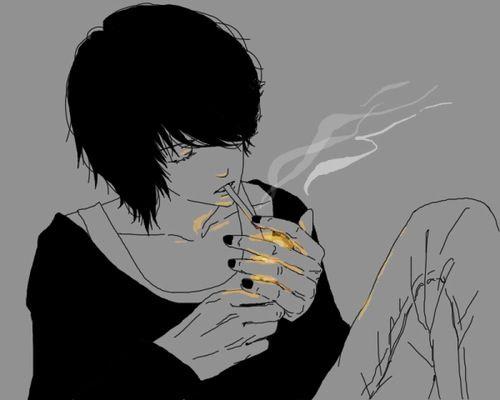 Smoker Anime Monochrome Anime Guys Anime Boy