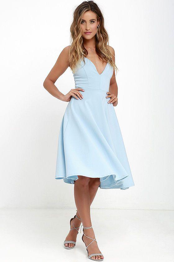 9e44f6b5e2 Sugared Petals Light Blue Midi Dress