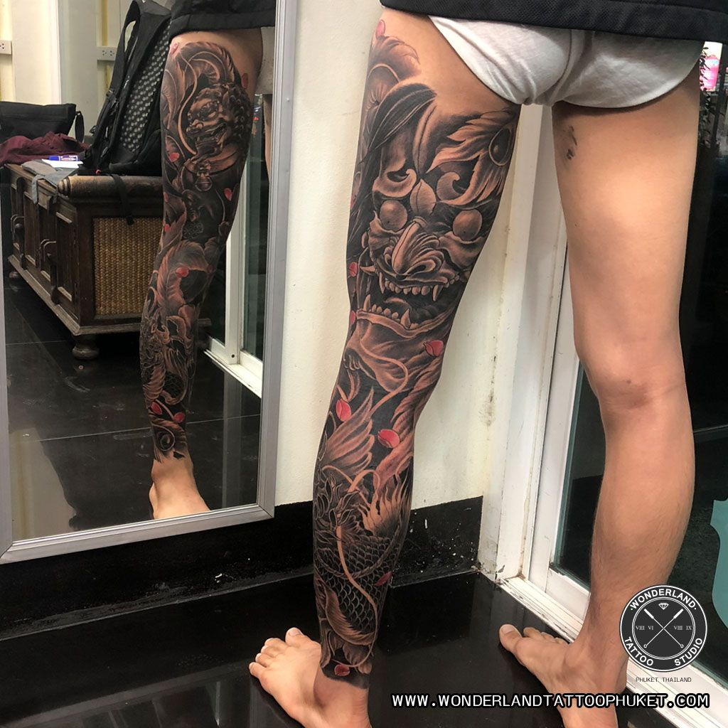 Japanese Tattoo Full Leg Full Leg Tattoos Leg Tattoos Japanese Tattoo