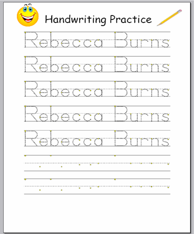 Make your own handwriting worksheets Wonderful