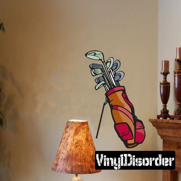 Golf Wall Decal - Vinyl Sticker - Car Sticker - Die Cut Sticker - CDSCOLOR101
