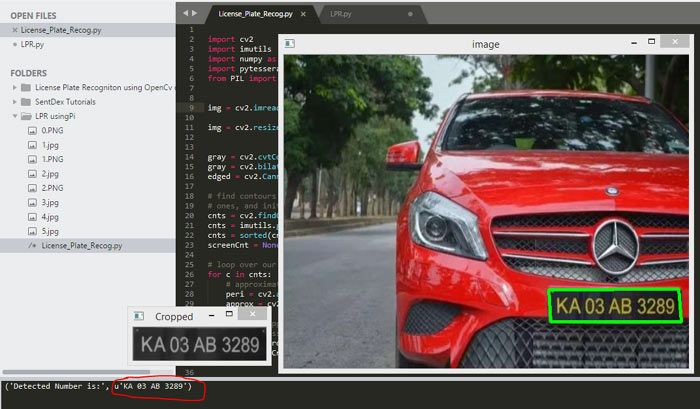 OpenCV License Plate Recognition   OpenCV Projects and
