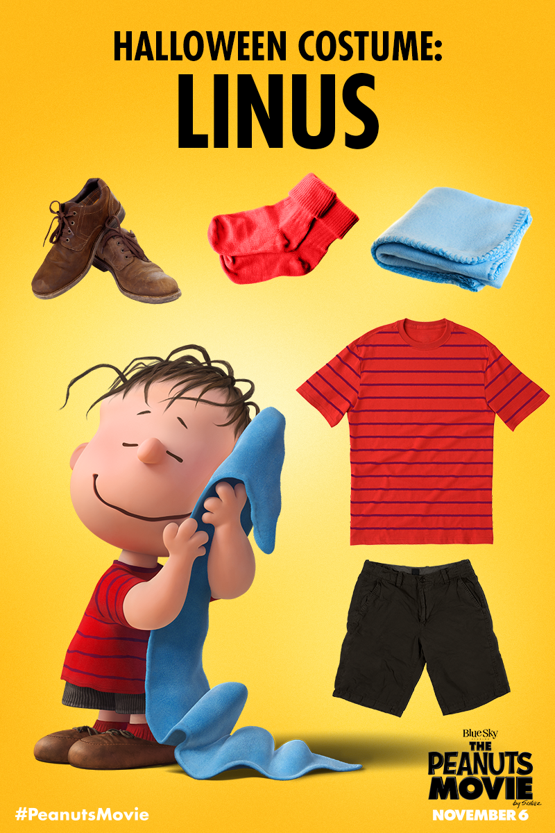 5fef04bd3b Need DIY Halloween costume ideas for the kids  Peanuts has you covered.  Dress as Linus and search for The Great Pumpkin! Blanket not optional.