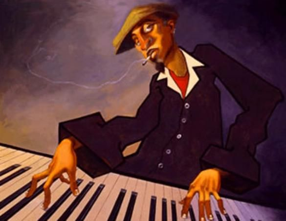 African American Music Paintings