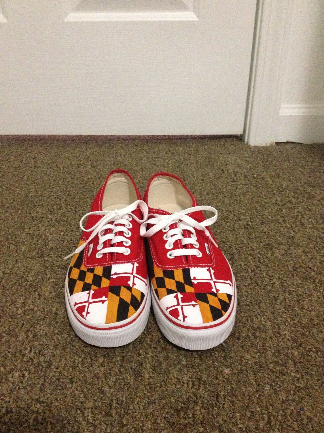 2b9964fc5d Hand Painted Maryland Flag Vans...I want these so bad  ProudMarylander  lol