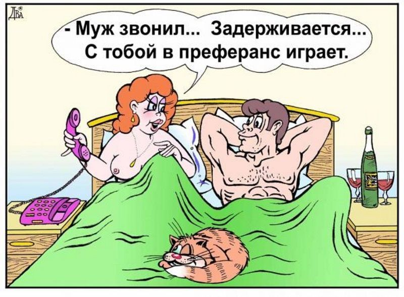Картинки по запросу карикатура муж и жена