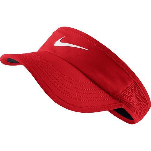 ce6f68239 Nike Women's Featherlight Tennis Visor (White/Black, Size ...