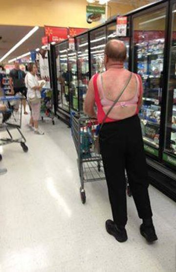 9c157ed3c254f7 Women s Clothes for Men at Walmart - Grandpa Goes Crossdressing Fail -  Funny Pictures at Walmart