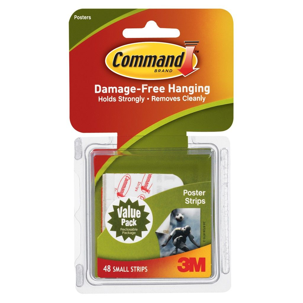 3m command poster strips white value pack with